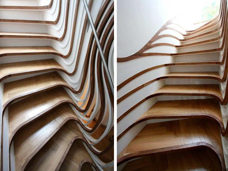 The Curved Staircase. Atmost Studio Amazing And Unique Staircases/Ladders