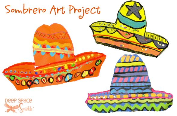 sombrero-art-project. Mexican culture. Pattern. Line. Color.