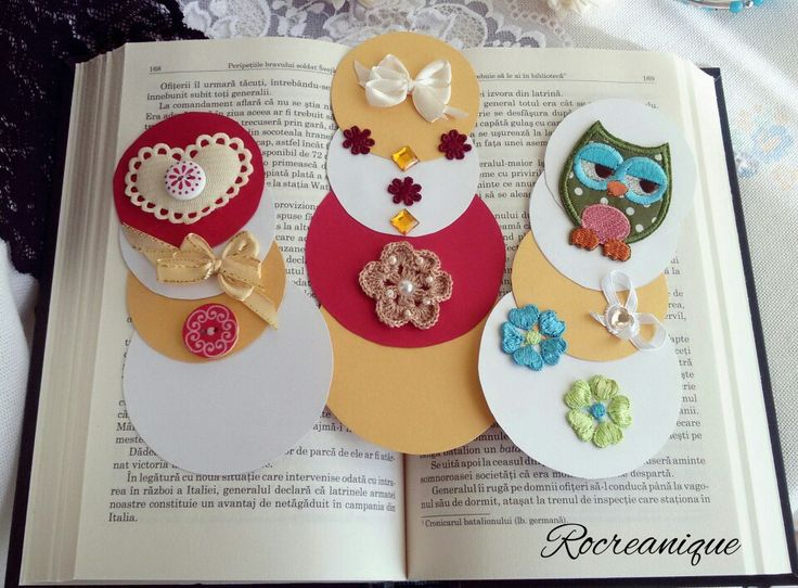 Set of 3 handmade bookmarks by Rocreanique