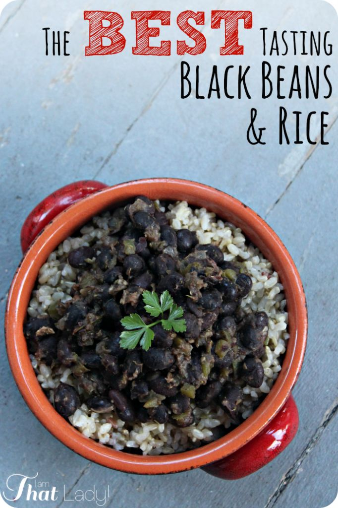 Are you looking for a GREAT black beans and rice recipe? STOP LOOKING - this is THE recipe! Red wine, cumin, garlic and oregano combine for some complex and AMAZING flavors... oh, and and did I mention that it's easy and cheap!?