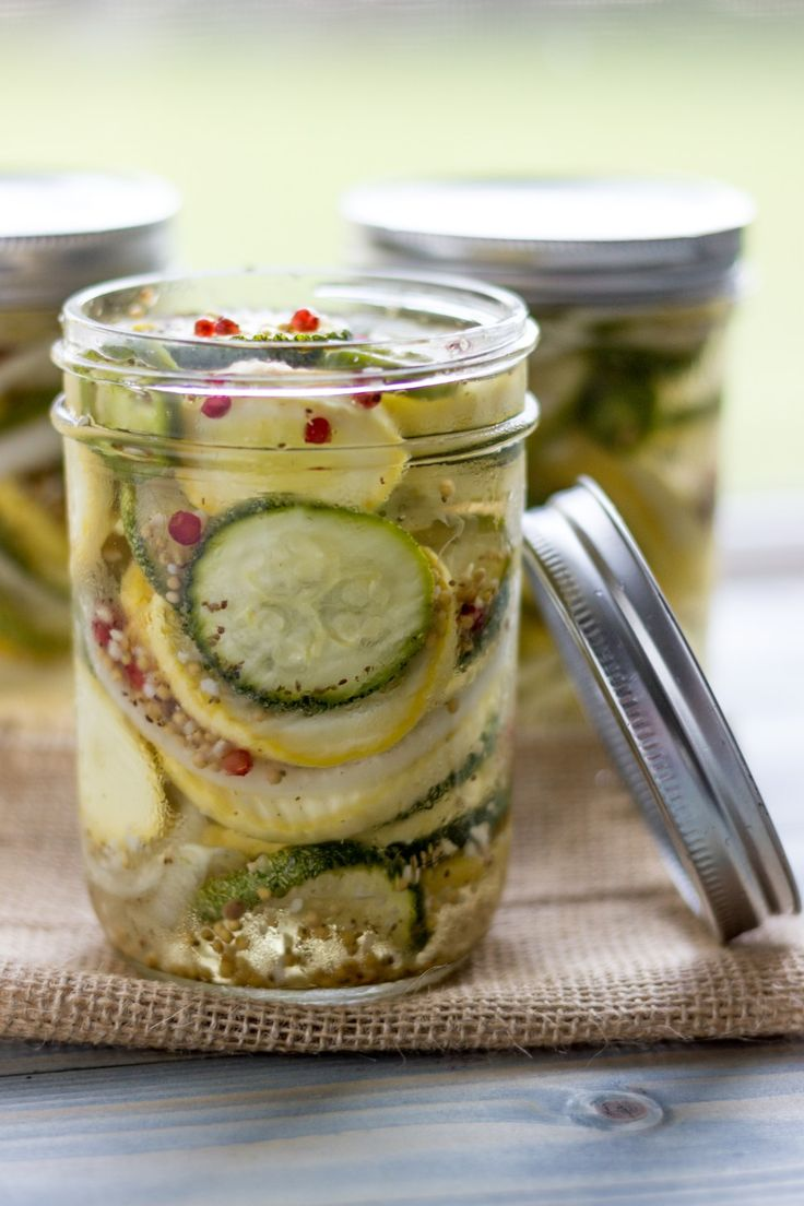 Bread and Butter Summer Squash Pickles-4