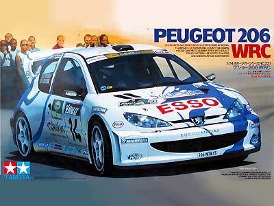 Boxart Peugeot 206 WRC 24221 Tamiya