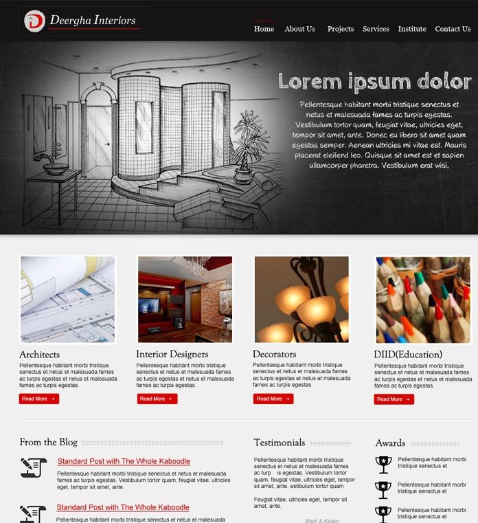 #web #design for #Deergah Interiors..  Work under progress.