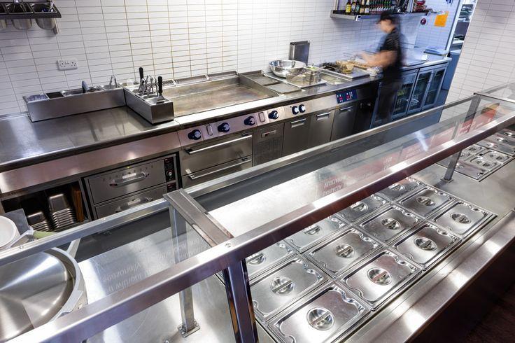 Pin by bora demircioglu on restaurant idea kitchen for Ruckfront kuche