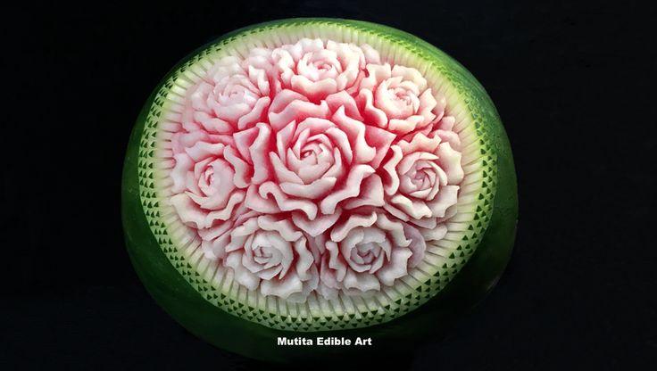 Watermelon Rose Flower | Wave Pattern