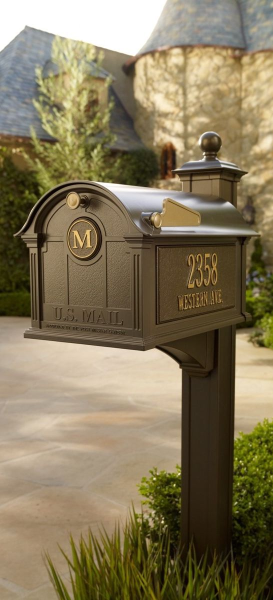 Our Personalized Balmoral Mailbox is so impressive, you'll be proud to display this curbside accessory in front of your home.
