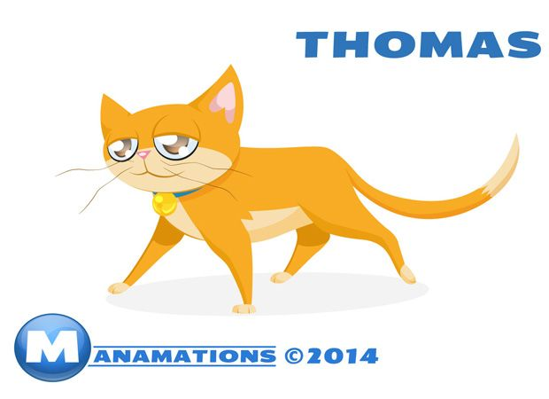 Thomas the Cat in colour