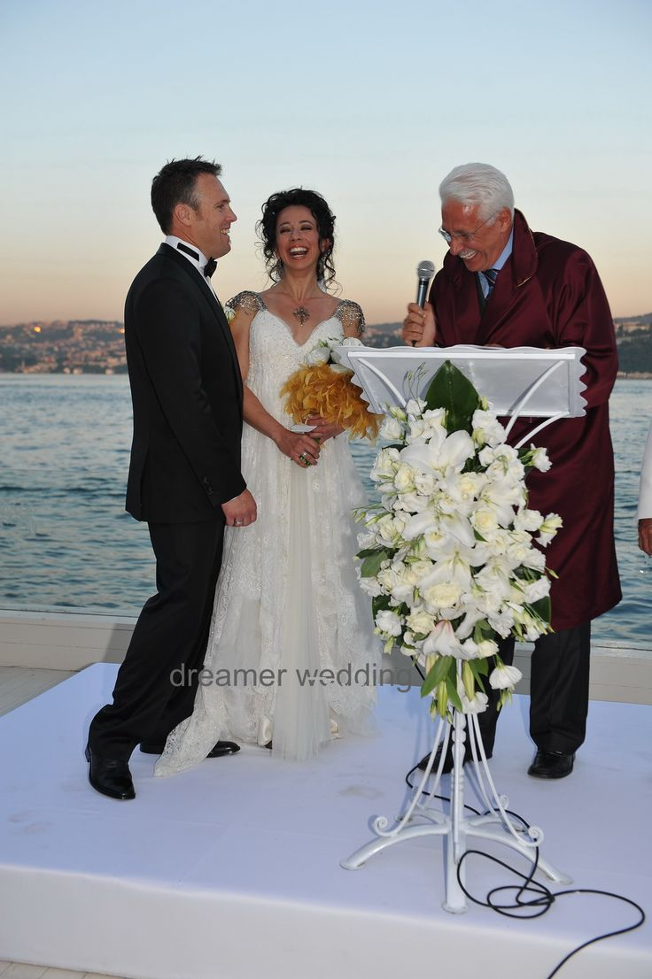 American-Turkish civil wedding on Bosphorus..