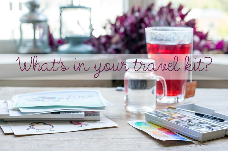 Well, who doesn't bring a kit of craft supplies when they travel somewhere? But…