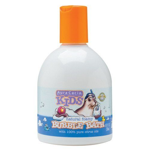 Aura Cacia Kids Bubble Bath, 9-Ounce Bottle (Pack of 3) by Aura Cacia. $11.75. 100% pure citrus oils. pure essential oils. bubble bath 9 oz. each (pack of 3). natural foamy. no synthetic colors or smells. Great product with harmless natural ingredients to add to your kids bath to make it bubble.. Save 56%!