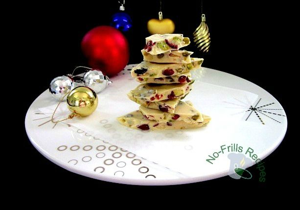 No-Frills Recipes ... cooking, baking & excerpts on travel: Pistachio Mixed Fruits White Chocolate Bark