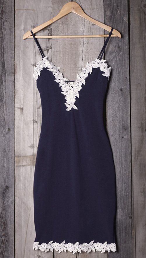 You know you love anything with a little bit of lace. You'll like this plunging neckline and lace hem. The Made The Cut Lace Slip Dress makes it look very feminine. Pick it up at Cupshe.com !