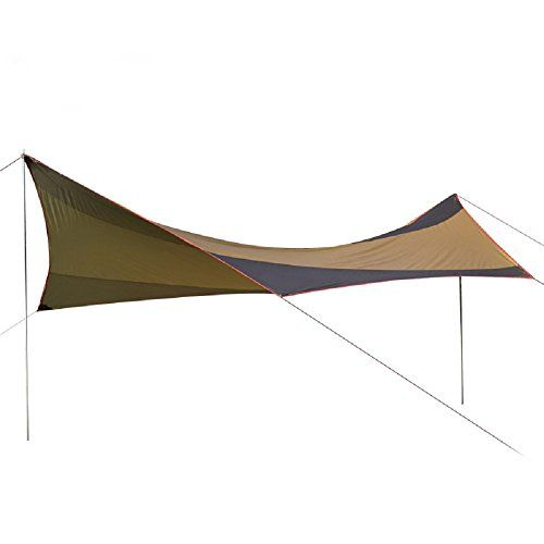 DANHEL Bell Tent Awning Escapist Waterproof Lightweight Large Tarp Shelter Screen Khaki 9449 x 21654 x 22047 inches -- Click on the image for additional details.