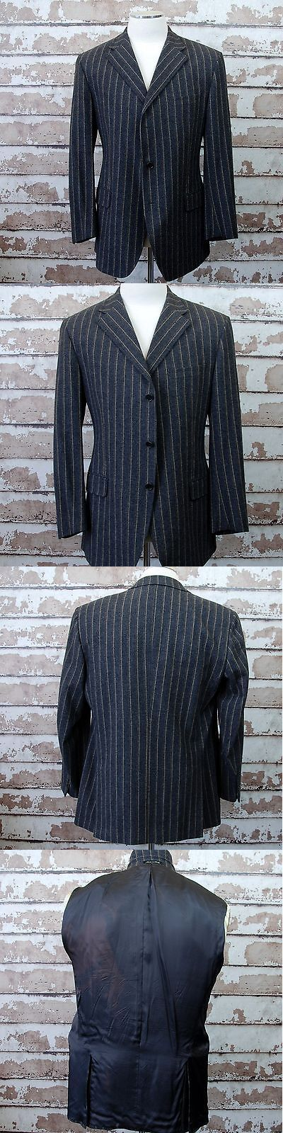 Blazers And Sport Coats 3002 Facconable Men S Wool Cashmere 46R Coat Gray Taupe