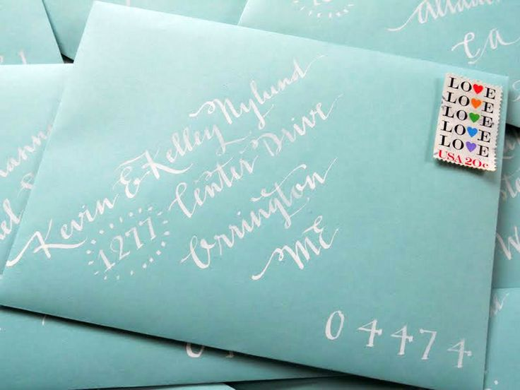 creative ways to address an envelope | Wedding Calligraphy--Whimsical, Cheery, & Fun For Your Wedding--Lucy ...