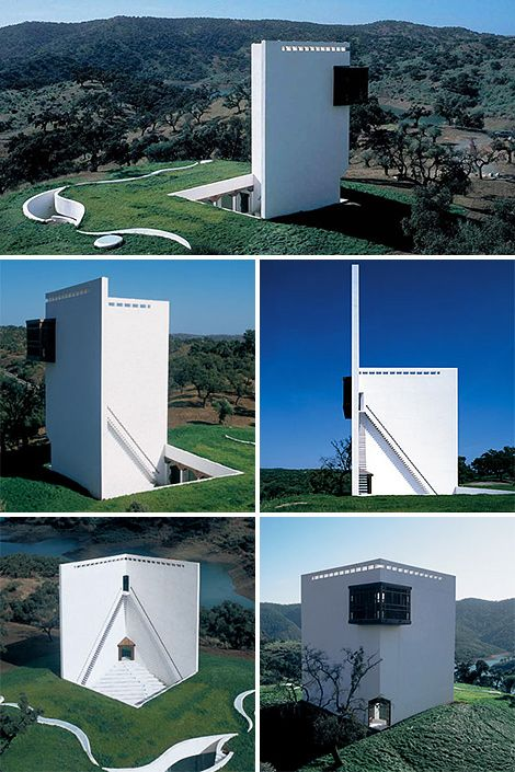 CASA de RETIRO ESPIRITUAL was designed by Emilio Ambasz in 1975. It localed at approximately 25 miles (40Km) north of Seville, Spain