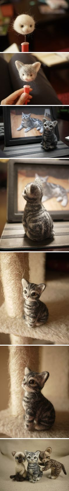 Demais!!! Handmade Felt - Cats