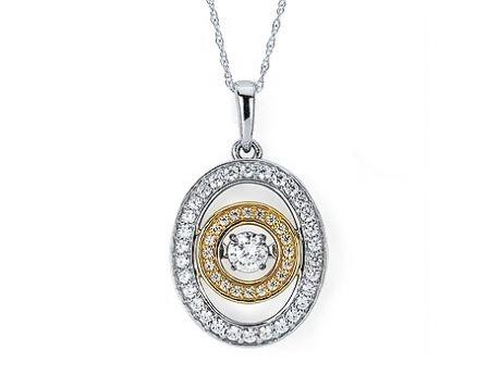 9 best atlantadiamondshop images on pinterest heartbeat two tone shimmering diamond pendant mozeypictures Images