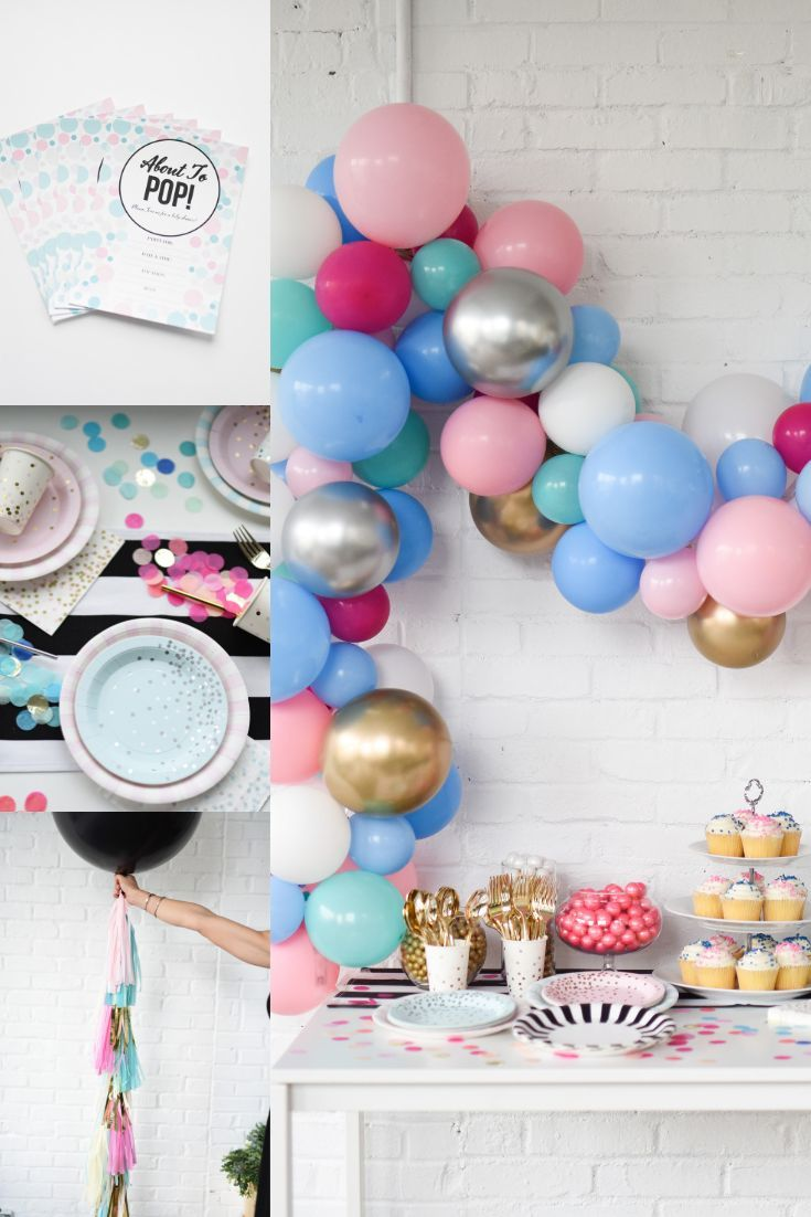 Gender Reveal Baby Shower Decorations Celebrated Baby Shower Gender Reveal Gender Neutral Baby Shower Boy Party Decorations