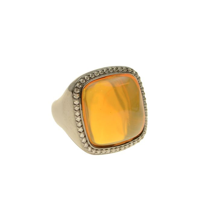 Ring made of sterling silver 925 with quartz stones