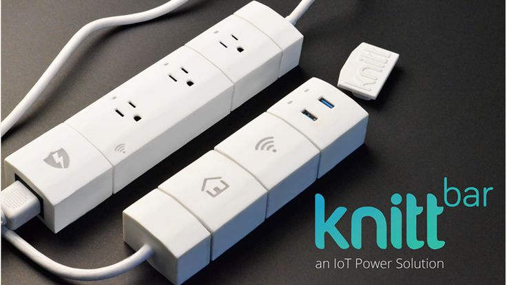 KnittBar - The Internet of Things (IoT) Power Solution project on Kickstarter.  WiFi-enabled modular smart power bar with an app. Individually monitor and control each module.