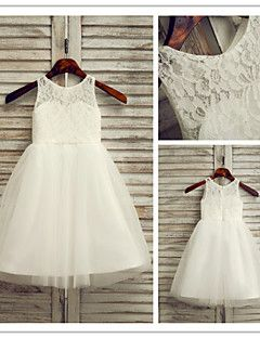 Flower Girl Dress Ankle-length Lace/Tulle A-line Sleeveless ... – USD $ 49.99