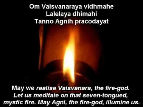 Agni Gayatri Mantra | Gayatri Mantra of Lord Agni | 108 ...