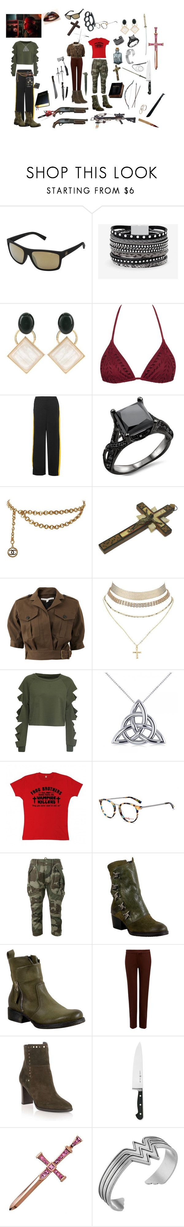 """Froggs sisters 2"" by traceymarh ❤ liked on Polyvore featuring VonZipper, White House Black Market, Marni, E L L E R Y, Chanel, Veronica Beard, Charlotte Russe, WithChic, Allurez and Etnia Barcelona"