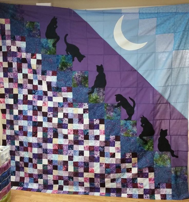 9 best Quilting, Stairway to Heaven & Cats images on Pinterest Stairways, Animal quilts and ...