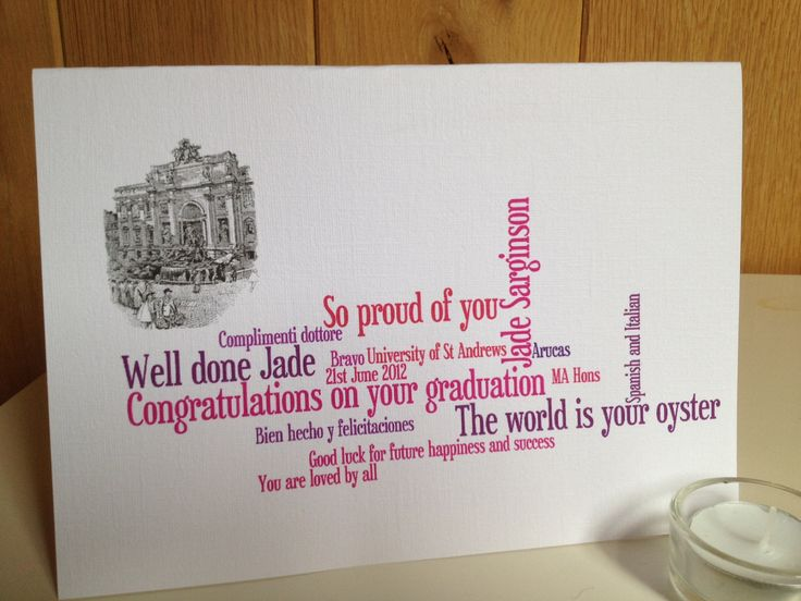 New to weheartcards on Etsy: Exam Success Graduation Card Personalised Custom made (9.95 GBP)