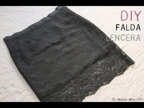 DIY Cómo hacer falda lencera o falda de encaje (patrones de falda base)