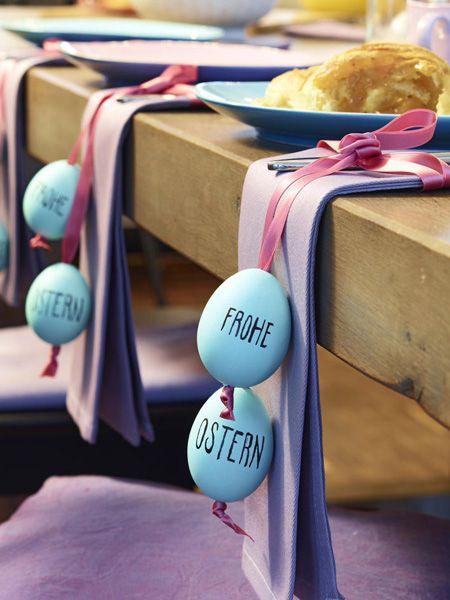 Werden Sie kreativ: Tischdeko basteln zu Ostern
