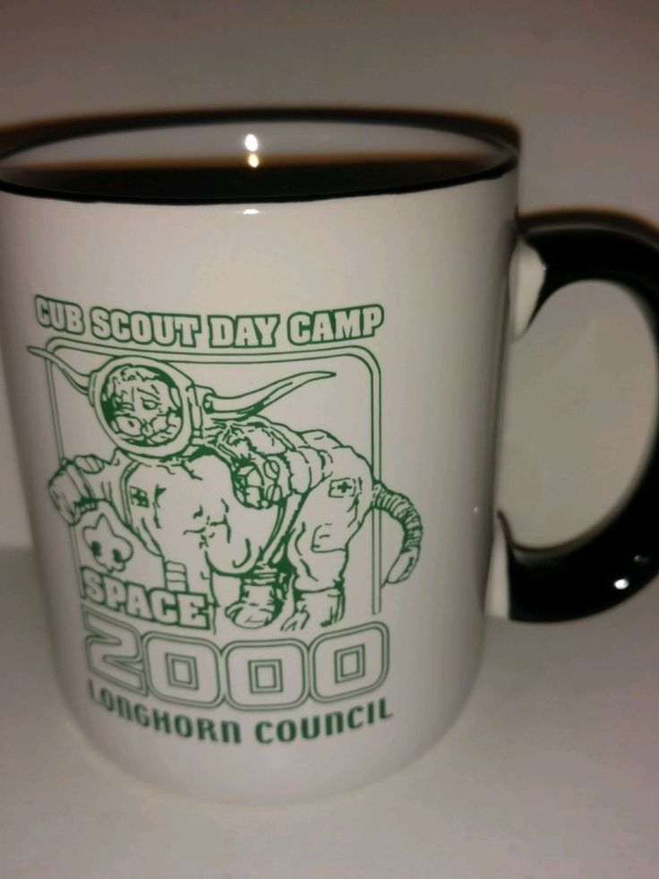 Cub Scout Day Camp Space 2000 Collectible Coffee Mug LongHorn Council