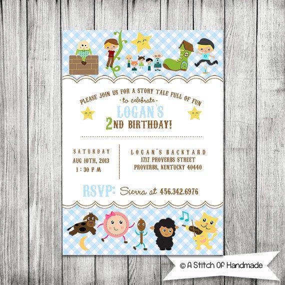 nursery rhyme party invite