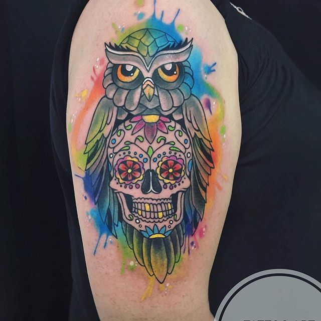 Tetovala Veronica  www.tattoo-club.cz  tattoo.club@email.cz  #muertatattoo #owltattoo #watercolourtattoo #tetovanihradec #tetovanihradeckralove #hradeckralove #tattoo #tattooartveronica #veronicatattooartist #tattooclubhradec #tattooclubhradeckralove #tetovarna #tetovarnahk #hkink #hkinktattoo #nachod #hronov #holice #horice #chrudim #pardubice