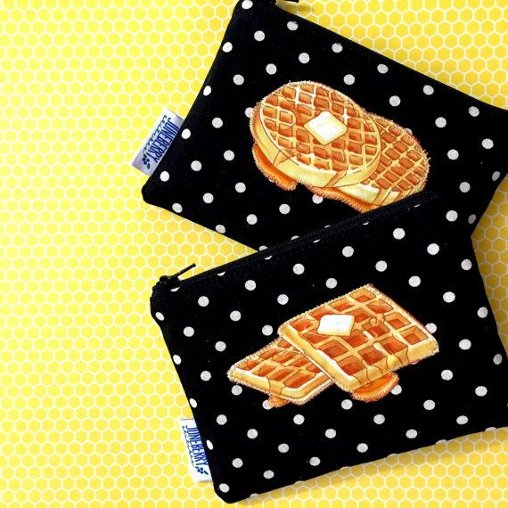 Galentine's Day Waffle Clutch Bag  Parks and by JuneberryStitches