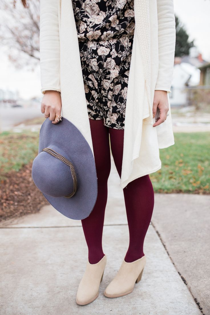 Mules from Payless Shoes and How to style a short romper in the winter | winter style tips | winter fashion ideas | styling for winter | cold weather fashion | year long wardrobe tips || Sandy a la Mode