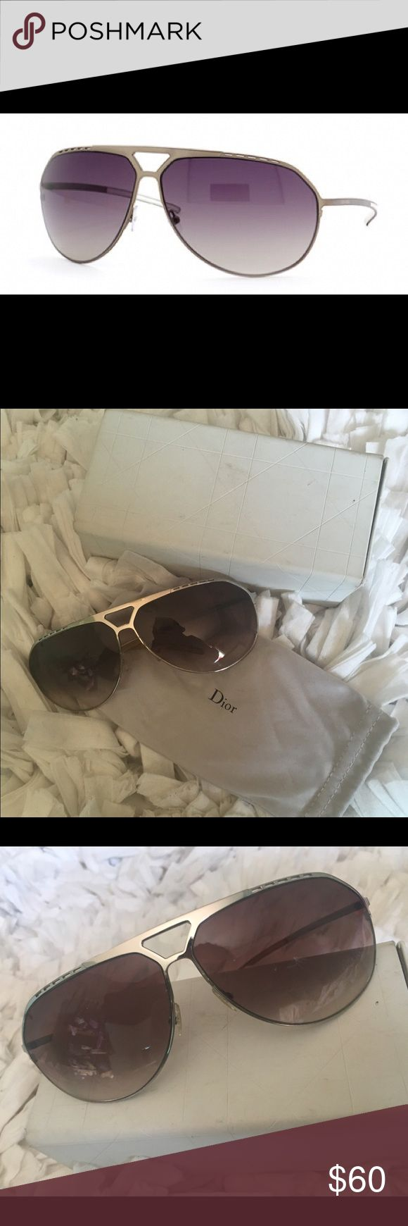 Christian Dior Sunglasses Dior Homme Sunglasses 0086/S 010W9 69 //Glasses come with dustbag and case//Case is damaged(pictured)//There is a very small scratch on one of the lenses, tried to take a photo of it but it wld not show up. Christian Dior Accessories Sunglasses