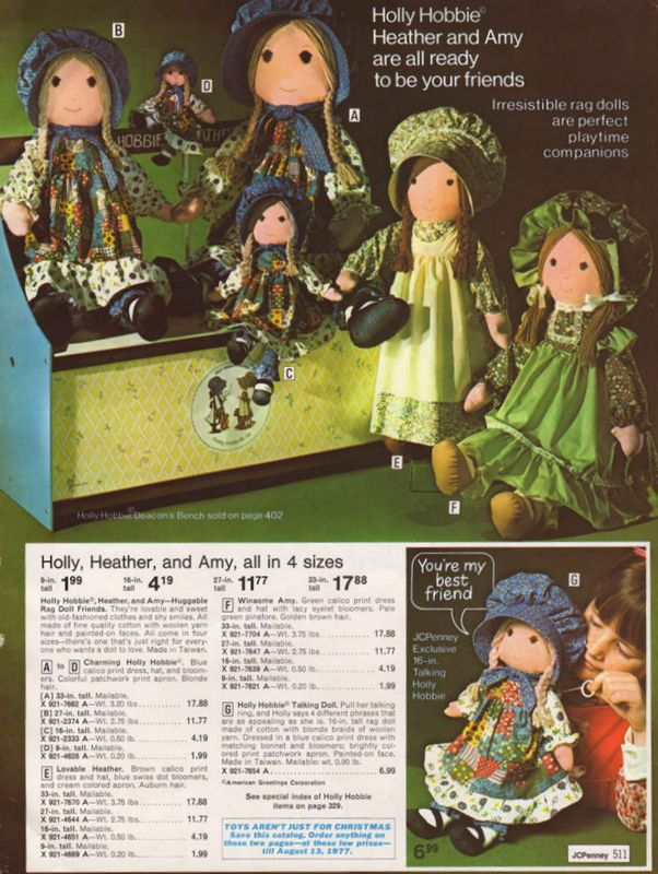 Vintage 1976 Holly Hobbie ad.  Robin had Amy and I had Heather.