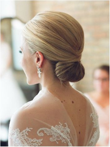 clean french twist bridal look