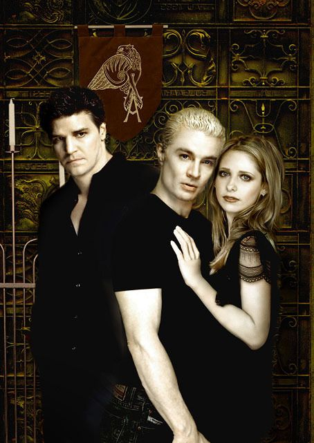 Buffy The Vampire  Slayer Characters | Buffy-Spike-Angel-buffy-the-vampire-slayer-1294498-454-641