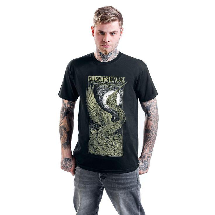 "Classica T-Shirt uomo nera ""Fly To The Moon"" dei #KillswitchEngage."