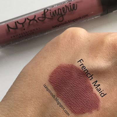 follow me @cushite Nyx Lip Lingerie Nuevo Tono French Maid - New Shade Nyx Lip Lingerie en-> Little Fairy: ¡Compras de Febrero 2017!