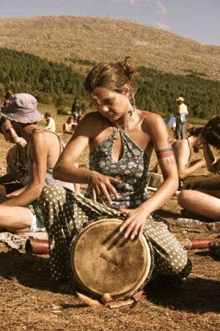 Hand drums... alone or in a group... maybe it's the rhythm, the vibration??... You will feel better & often, people will begin to gather 'round & dance...