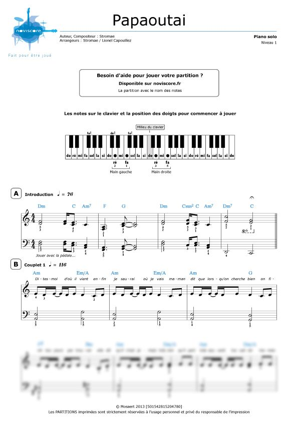 partition piano tutorial