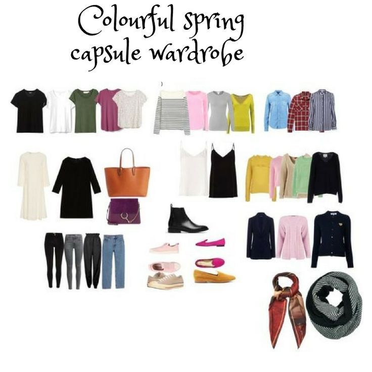 colorful Spring capsule wardrobe  2018