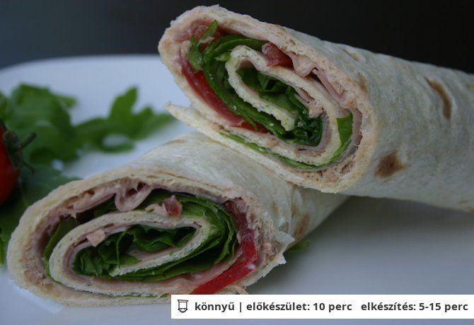 Tonhalas tortilla szendvics   NOSALTY – receptek képekkel