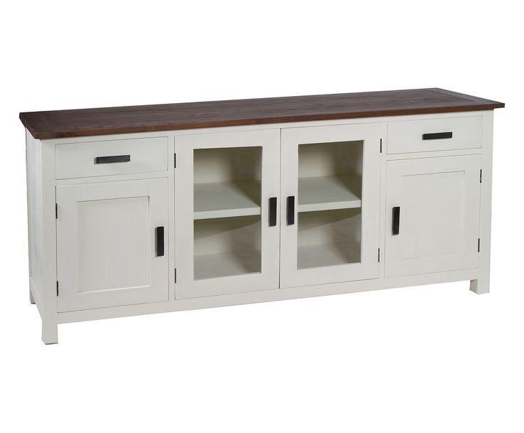 Credenza 4 ante e 2 cassetti in legno mindi Braxton - 180x85x45 cm   Dalani Home & Living