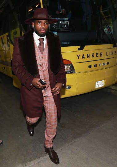 1.1.16 - Montreal Canadiens vs. Boston Bruins FOXBORO, MA - JANUARY 01: P.K. Subban #76 of the Montreal Canadiens arrives at Gillette Stadium prior to playing in the 2016 Bridgestone NHL Winter Classic between the Montreal Canadiens and the Boston Bruins in Foxboro, Massachusetts. (Photo by Dave Sandford/NHLI via Getty Images)