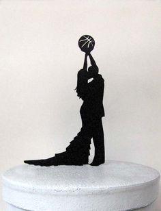 Wedding Cake Topper - Basketball wedding